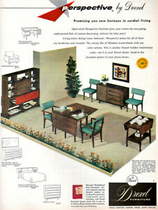 Drexel Furniture Perspective Dining Room Mid Century Modern 1953 Magazine Ad