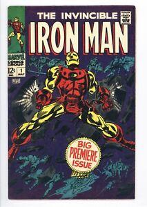 Iron Man #1 Vol 1 Beautiful High Grade Origin of Iron Man Retold 1968