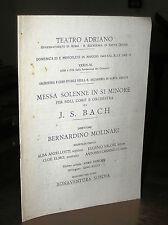 FM405_MESSA SOLENNE IN SI MINORE di J.S.BACH-dirett.B.Molinari - 1943