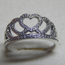 Authentic Pandora 190958CZ Hearts Tiara Ring Size 56 Box Included