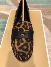 NIB $155 MICHAEL KORS Buchanan Animal-Print Calf Hair Loafer Sz 8M