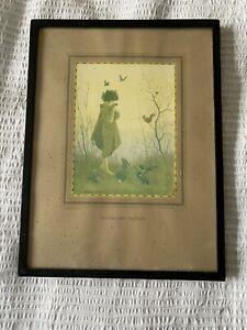 'Woodland Friends' Vintage Margaret Tarrant mounted framed print