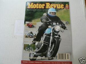 MOTOR REVUE 2004-02 POSTER AJS 7R BOY RACER,NORTON 850 MK4,SUZUKI GT750,851 DUC