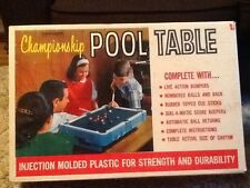 Vintage 1965 Transogram Championship Pool Table