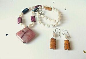 Multi Colour Necklace & Earrings Set