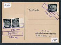 05478) DR Ostgebiete Not-Stempel Spittel...