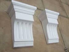 1 pair of contempary Fluted plaster corbels  (pair ) plasterwrx corbels hallway