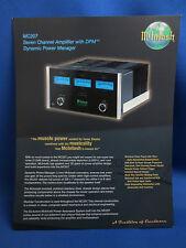 MCINTOSH MC207 AMPLIFIER SALES BROCHURE ORIGINAL GOOD CONDITION