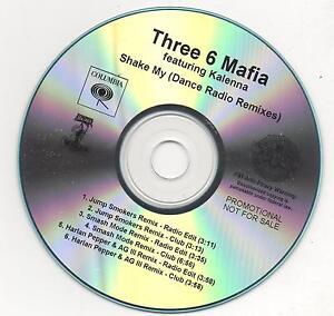 Three 6 Mafia Feat. Kalenna Shake My Promo Remixes Rare CD