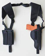 Vertical Shoulder Holster for BERETTA 92, 96 & M9 with Tactical Light Dbl Mag Pc
