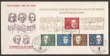 WEST GERMANY # 804 BEETHOVEN MUSIC First Day Cover