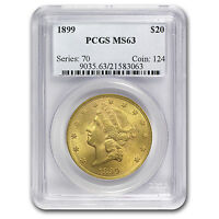 $20 Liberty Gold Double Eagle MS-63 PCGS (Pre-1900) - SKU #73158