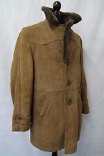 Men'S su misura Marrone Cappotto in montone taglia 38R CC7067