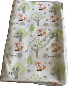 Blankets And Beyond Plush Security Lovey Blanket Forest Animals Fox Racoon