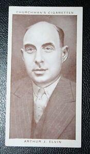 Boxing Promoter  Arthur Elvin   Original  Vintage Photo Card  CAT E