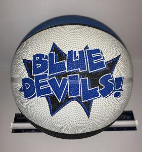 Duke Blue Devils Basketball Ball Rubber White Blue Black Official Sz Vintage