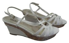 Charles David Thesis White Wedges Sandals Size 9.5 M Retail $90