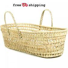 Organic Palm Leaf Moses Basket Baby Bassinets Nursery Storage Decor Natural
