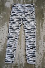 NWOT GAP Gfast Black White Barre Splatter Stripe Athletic Pants Hi Rise Gym L
