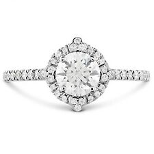1.10 Ct Round Cut Solitaire Diamond Engagement Ring Solid 14 K White Gold D/Vvs1
