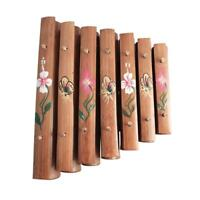 Wooden Hand Painted 7 Note Xylophone Rindik bunga Indonesia Approx. 30cm x 38cm