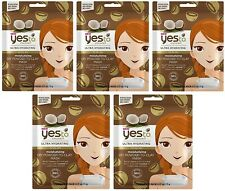 5 x Yes to Coconut Moisturising Powder to Clay Face Mask Hydrating Dry Skin Pack