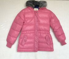 Hanna Andersson Pink Down Hooded Jacket Size 130 (8)