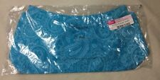 Thirty One 31 Line Up Paisley Blue Aqua Fitted Purse Skirt Only Retired NEW