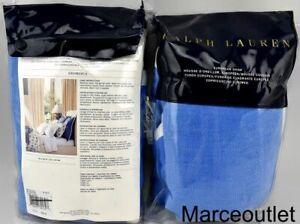 Ralph Lauren Georgica Branford EURO Pillowshams Blue / White