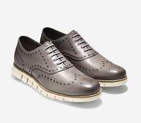 Cole Haan Men's Zerogrand Leather Wingtip Oxfords Ironstone C25007 US Sizes