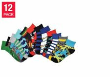 K. Bell Boys' 12 Pair Quarter Socks - (Shoe Size 13 - 4) * FAST FREE SHIPPING *