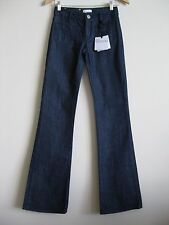 RED VALENTINO Front & Back Patch Pocket Dark Wash Flared Jeans Size 25 NWT