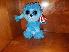 New with tags  Ty Beanie Boo Mandy the Blue Poodle Dog 6 inches 2017 release