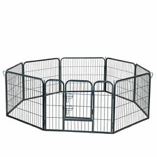 Dog Pet Playpen Heavy Duty Metal Exercise Fence Hammigrid 8 Panel 24""