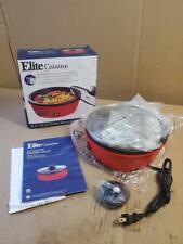 "ELITE CUISINE 8.5"" ELECTRIC PERSONAL SKILLET NONSTICK STIR FRY PAN EGL-6101 (("