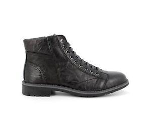 IGI&CO 6108400 Boots Combat Boots Booties biker Shoes High Black Leather