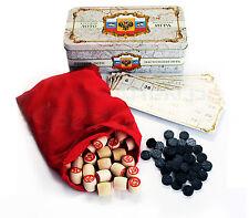 Russisches Lotto METALLBOX Русское лото Gesellschafts Spiel Familienspiel Bingo