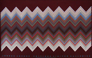 Jurgen Peters German Op-Art 1982 Original Silkscreen Poster 24-1/2 x 38-1/2