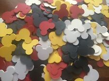 250 Mickey Mouse heads BLACK yellow white red table confetti decoration party
