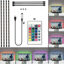 5V USB LED Strip Lights TV Back Light 5050 RGB Color Changing W/ Remote Control