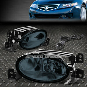 FOR 06-08 ACURA TSX SMOKED LENS FRONT BUMPER DRIVING FOG LIGHT LAMPS W/SWITCH