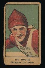 1921 W551 Athletes Strip Cards -JOE MOORE (Champion Ice Skater)