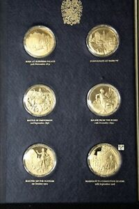 THE CHURCHILL CENTENARY MEDALS - SET OF 24 STERLING GOLD PLATED MEDALS (OOAK)