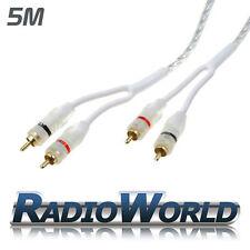 HQ Cable RCA/Phono Plomo/5M CAR AUDIO AMP AMPLIFICADOR/Chapado en Oro Blindado