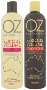 OZ BOTANICS SERIOUS VOLUME SHAMPOO and CONDITIONER EVERYDAY LUSCIOUS LOCKS
