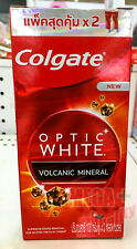 Colgate Optic White VOLCANIC MINERAL Toothpaste gel Fluoride 2 Tube X100g.
