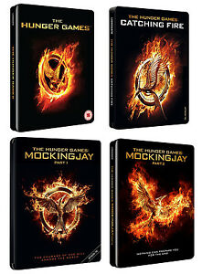 The Hunger Games (Blu-Ray Steelbooks) The Complete Collection - All 4 movies