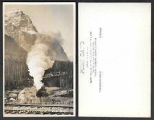 Canada Real Photo Postcard - Byron Harmon, Railroad Train, Mt. Field #779