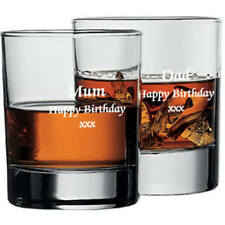 WHISKY GLASS  ENGRAVED WITH YOUR WORDS IN PRES BOX