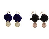 Women Fashion Earrings Floral Disc Hook Designer Dangle Drop Christmas Jewelry